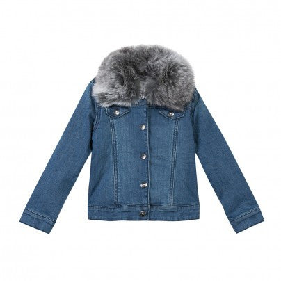 DENIM TAYLORD FUR COLLAR