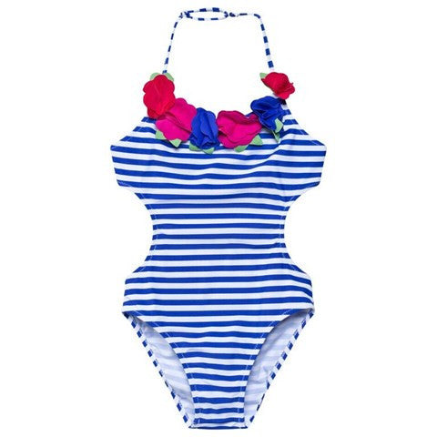 Striped Flowers Monokini