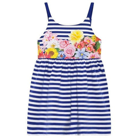 Stripes & Flowers Sundress / Beach Coverup