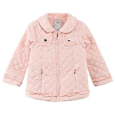 Diamond Quilted A-Line Spring Jacket