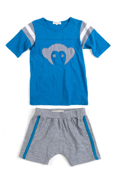 Monkey Hockey 2pc Set Blue/Grey