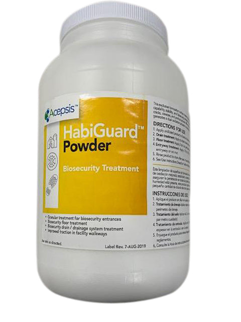 Habiguard Powder - The Facility Biosecurity System