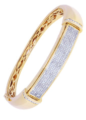 Bracelet à diamants homme en or jaune | 2,97 ct | 38,85 grammes