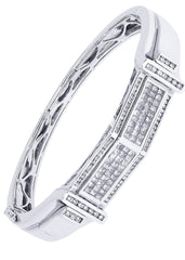 Bracelet à diamants homme en or blanc | 2,47 ct | 41,8 grammes