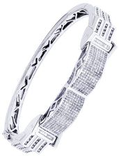 Bracelet à diamants homme en or blanc | 2,96 ct | 39,75 grammes