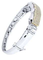 Bracelet à diamants homme en or blanc | 1,92 ct | 37,88 grammes