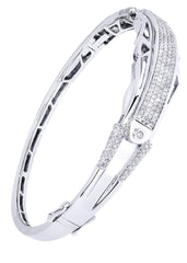 Bracelet à diamants homme en or blanc | 1,76 ct | 26,69 grammes