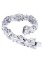 Bracelet à diamants homme en or blanc | 4,63 ct | 52,72 grammes