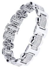 Bracelet à diamants homme en or blanc | 6,34 ct | 45,89 grammes