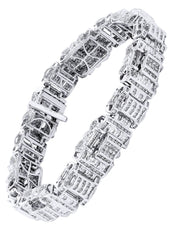 Bracelet à diamants homme en or blanc | 6,61 ct | 60,18 grammes
