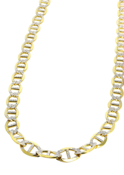 Chaîne en or - Collier Homme taille diamant Mariner en or 10 ct