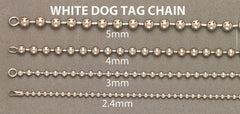 Bracelet homme Dog Tag en or blanc 10 ct