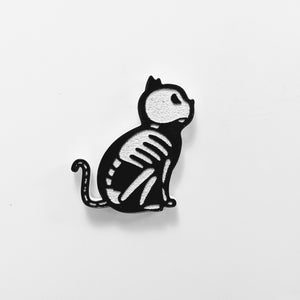 Black Cat Skeleton Magnet