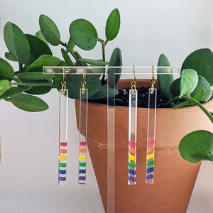 rainbow stripe earrings