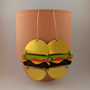 Hamburger Dangle Earrings