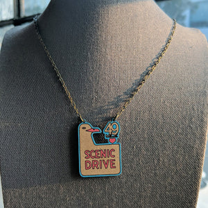San Francisco 49 Mile Scenic Drive Sign Necklace - Small