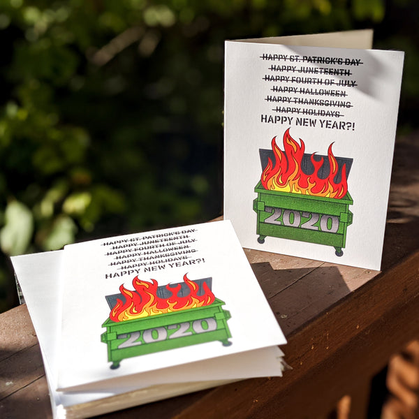 2020 Dumpster Fire Happy New Year Cards - Set of 6