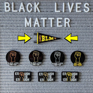 Black Lives Matter Pennant Pin