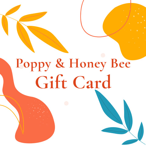 Poppy and Honey Bee Gift Card