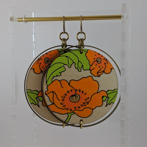 California Poppy Earrings - Large