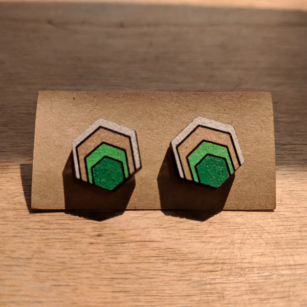 Hexagon Arch Stud Earrings