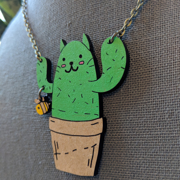 Cat-tus Bee Necklace