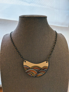 Golden Hills and Cool Waves Necklaces