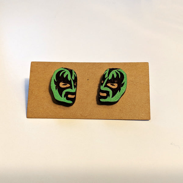 Luchador Mask Stud Earrings
