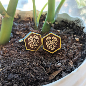 Monstera Cufflinks
