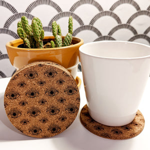 Third Eye Cork Coasters - Set of 4