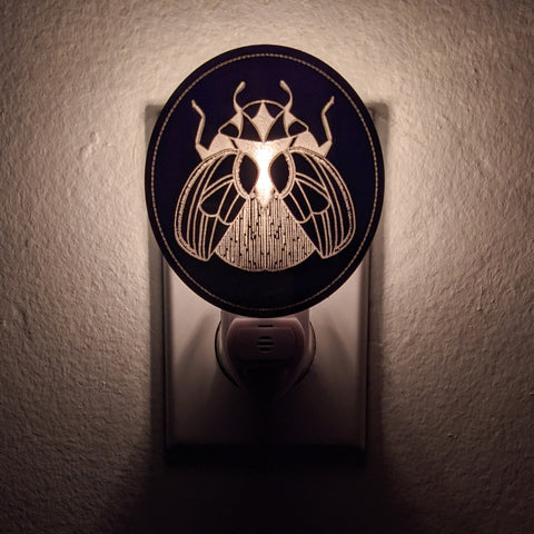 Beetle Bronze Mirror Acrylic Night Light