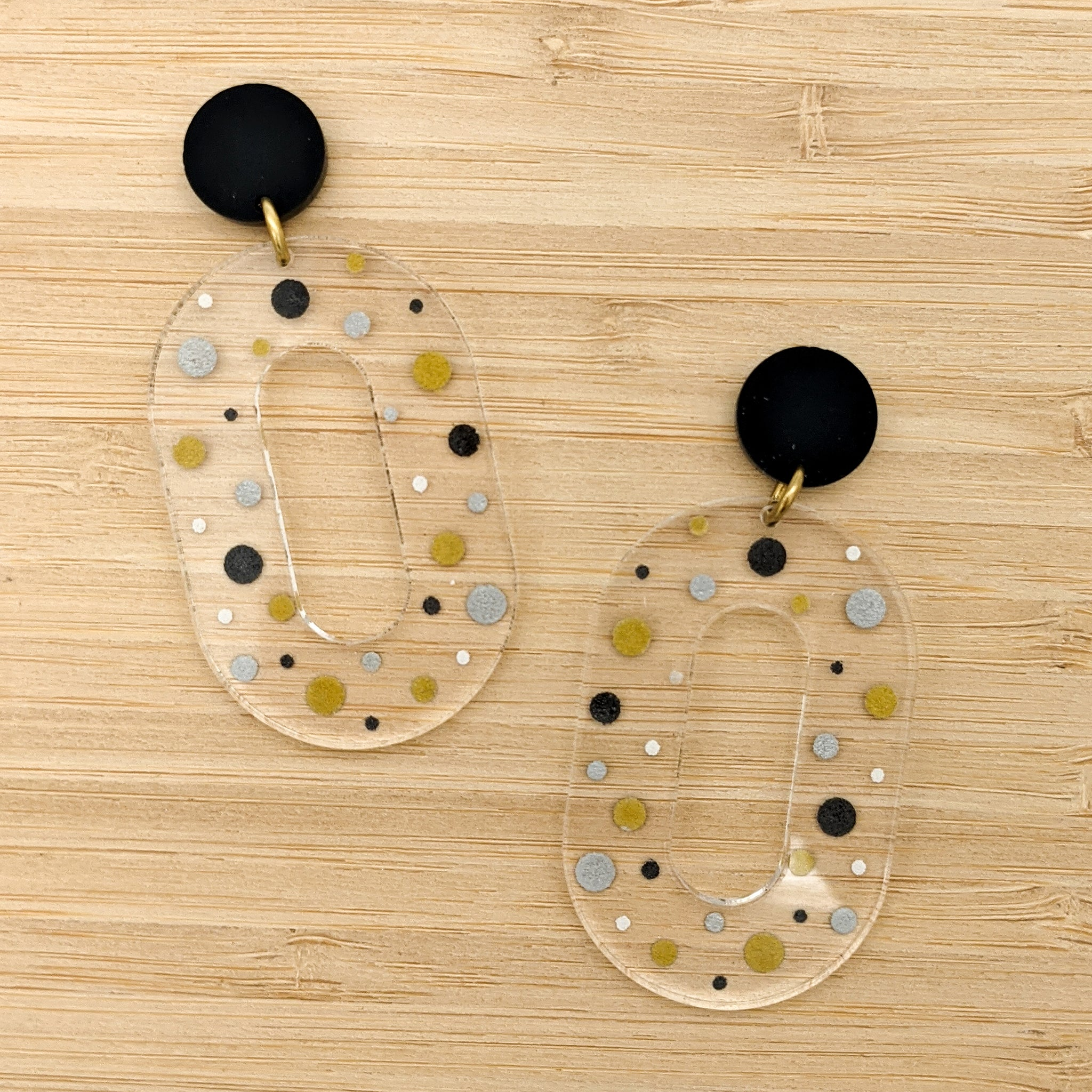 Polka Dot Party Earrings - Large