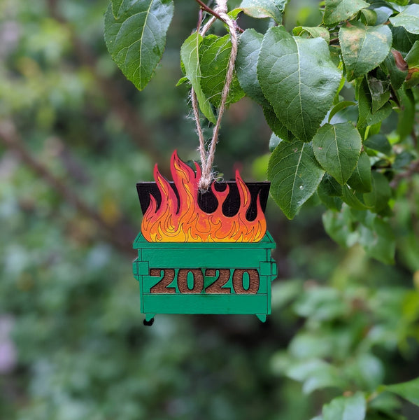 2020 dumpster fire ornament