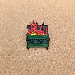 2020 Dumpster Fire Soft Enamel Pin