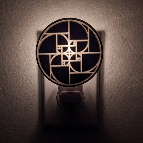 Golden Spiral Bronze Mirror Acrylic Night Light