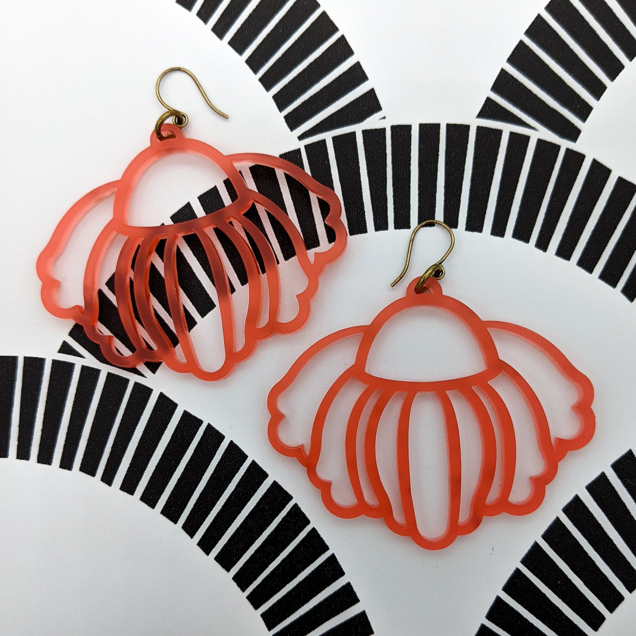 Hanging Flower Acrylic Earrings