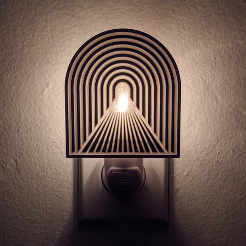 Light at the End of the Tunnel Bronze Mirror Acrylic Night Light