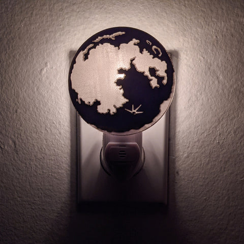 Full Moon Bronze Mirror Acrylic Night Light