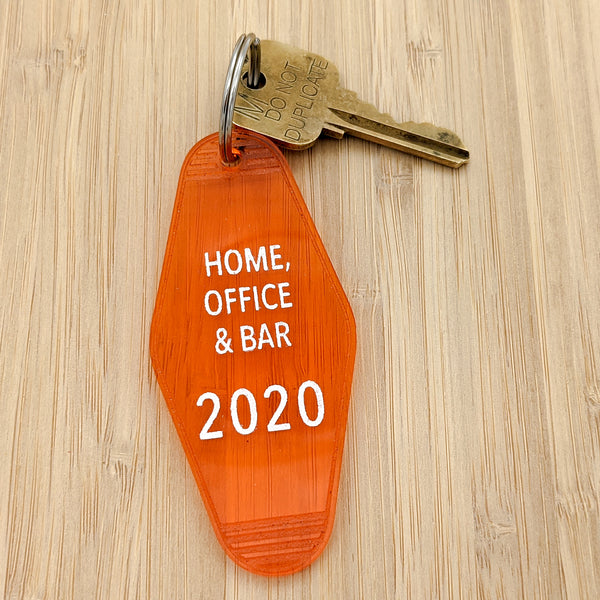 Home, Office & Bar 2020 Motel Keychain