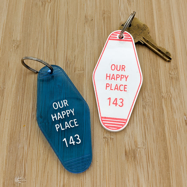 Our Happy Place Motel Keychain