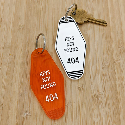 Keys Not Found 404 Motel Keychain