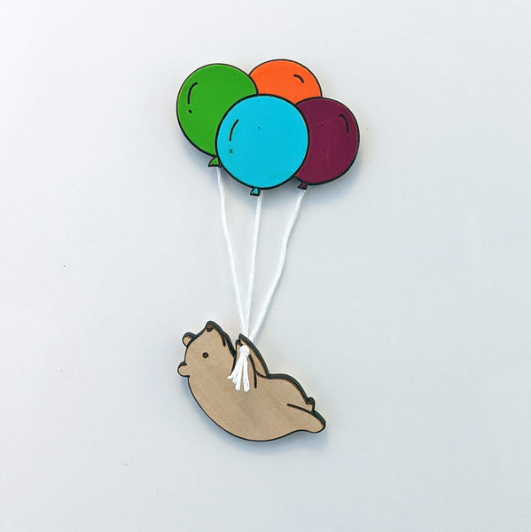 Up, Up, and Away Bear Magnet