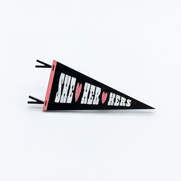 Preferred Gender Pronouns Pennant Pins