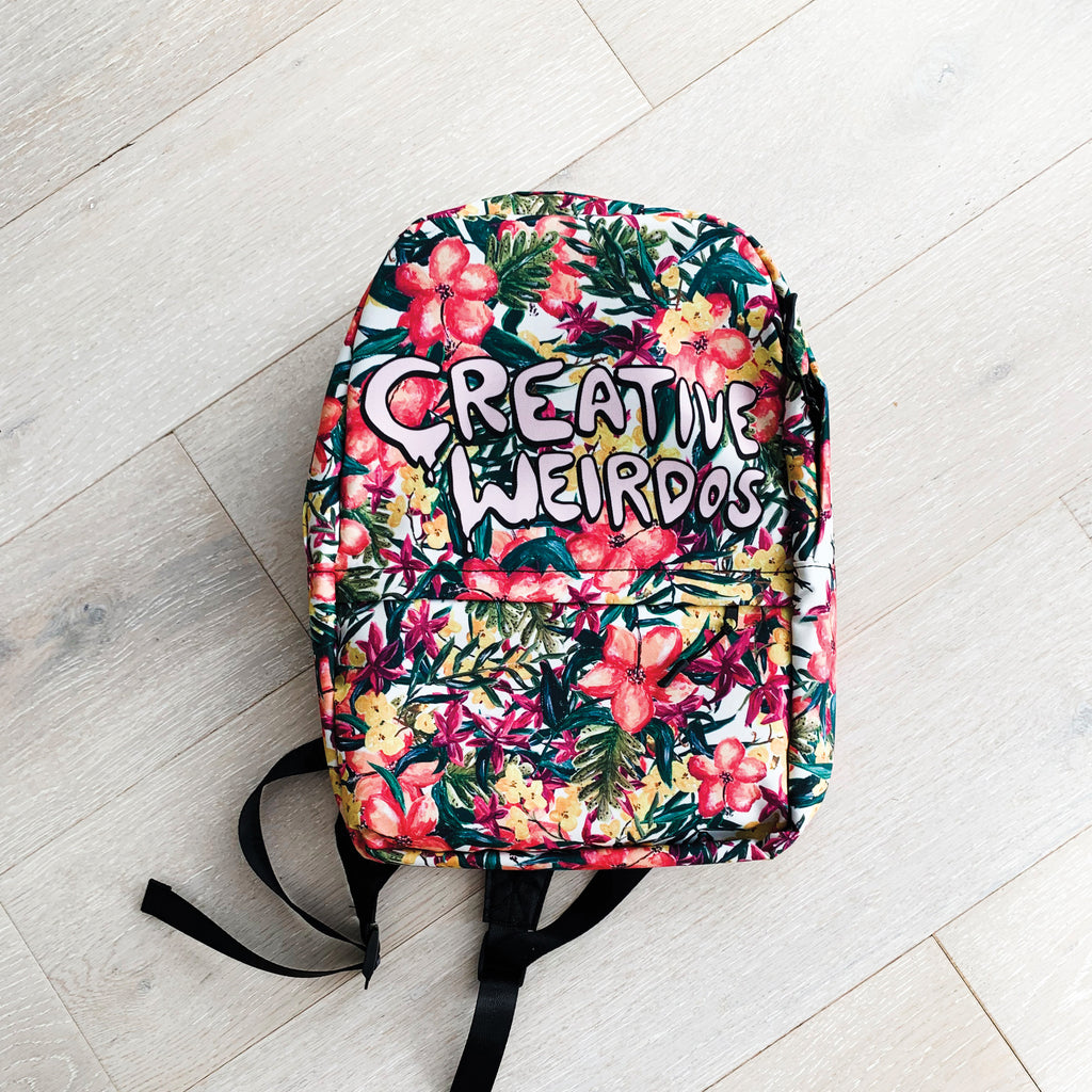 Creative Weirdos Painted Floral Backpack