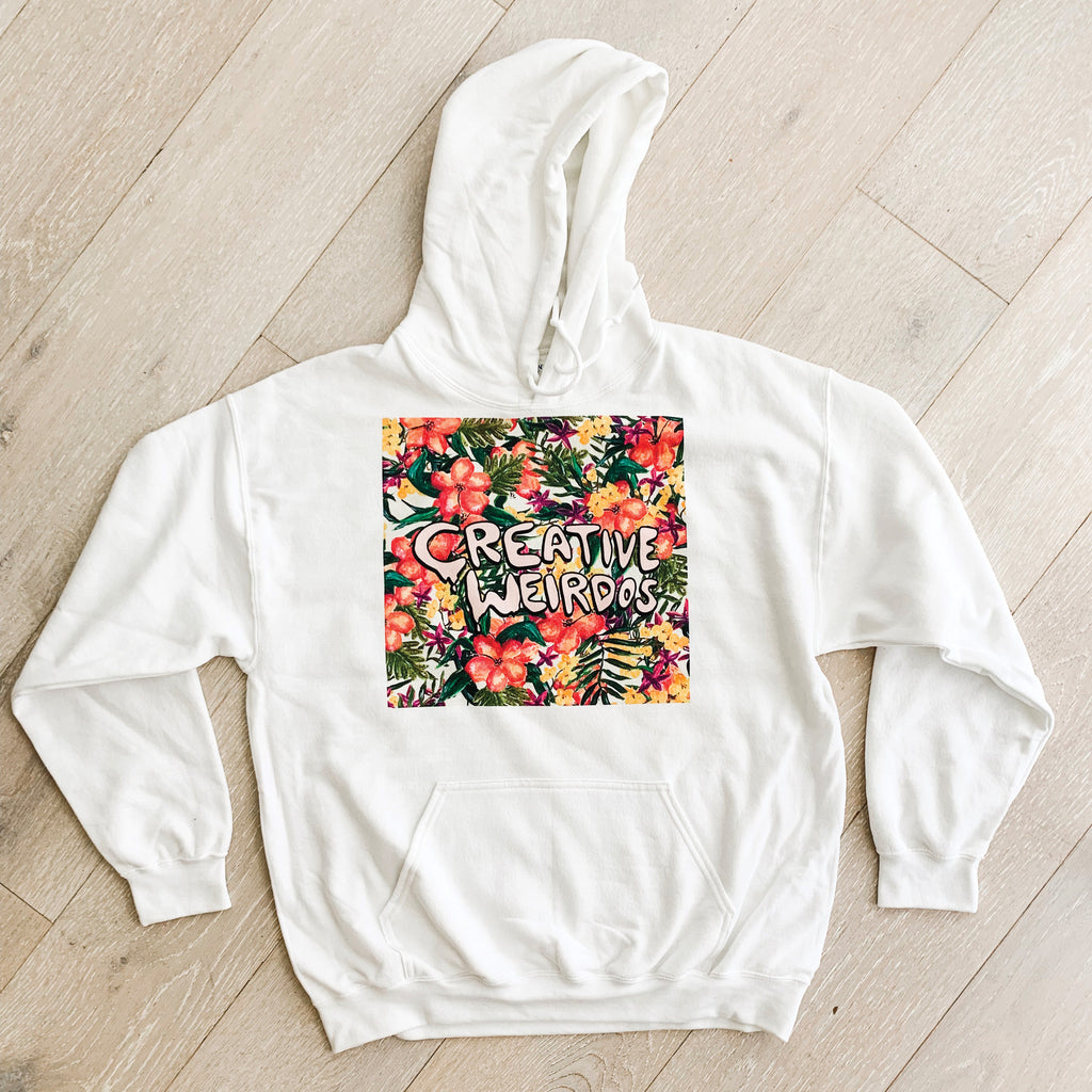 Painted Floral Box Creative Weirdos Hoodie Sweatshirt