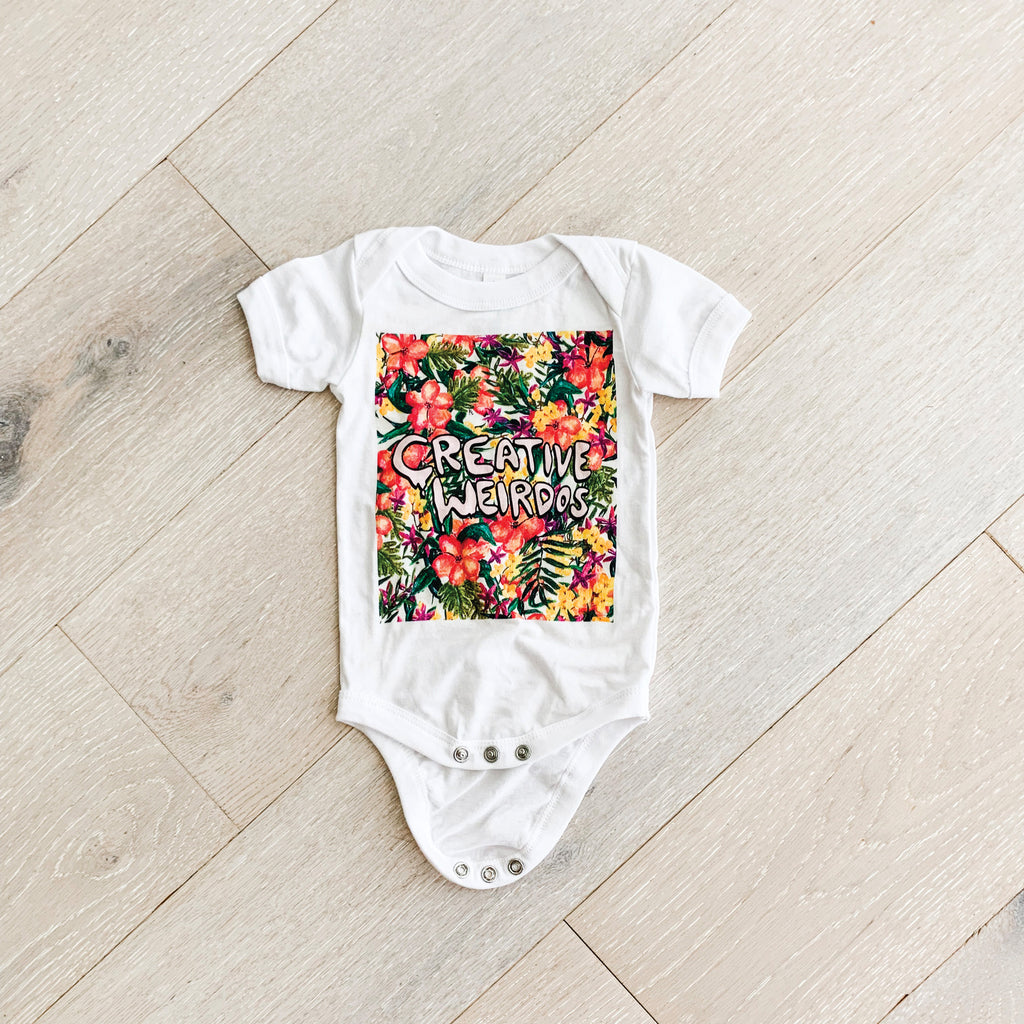 Painted Floral Box Creative Weirdos Baby Onesie