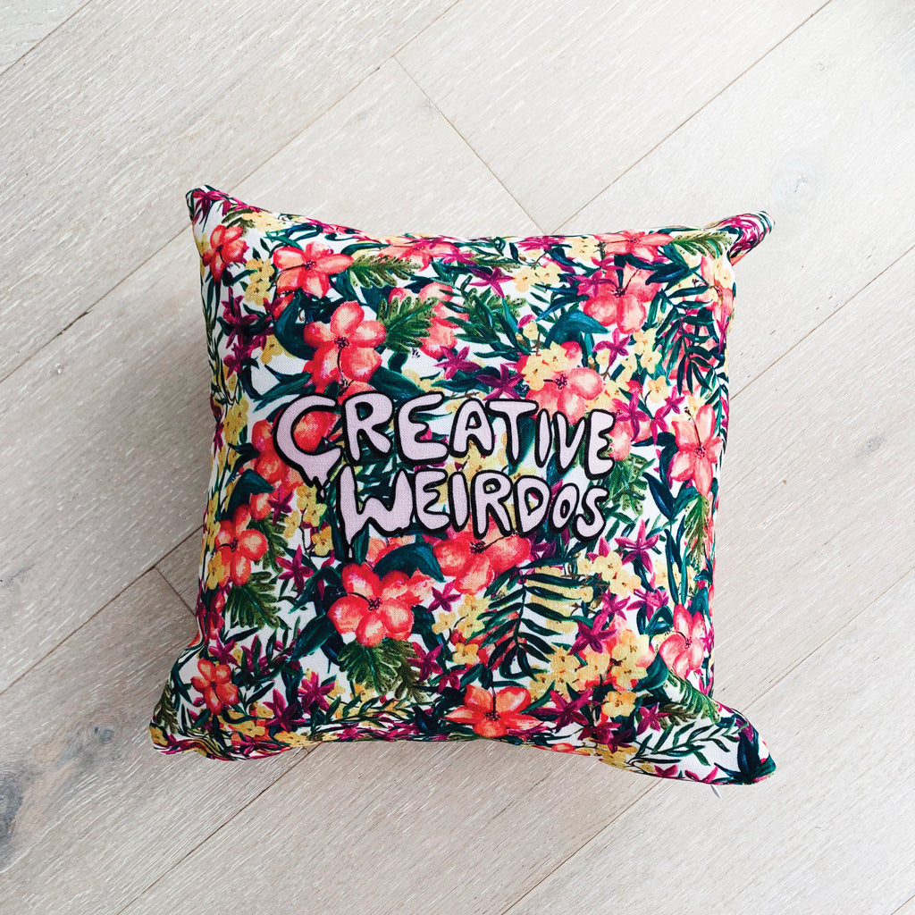 Creative Weirdos Premium Pillow - Painted Floral