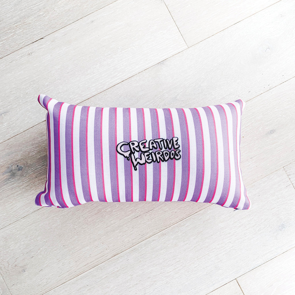 Creative Weirdos Striped Premium Pillow