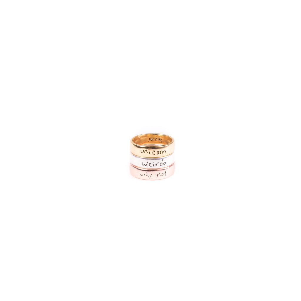Positive Motto Ring - Silver/ Vermeil