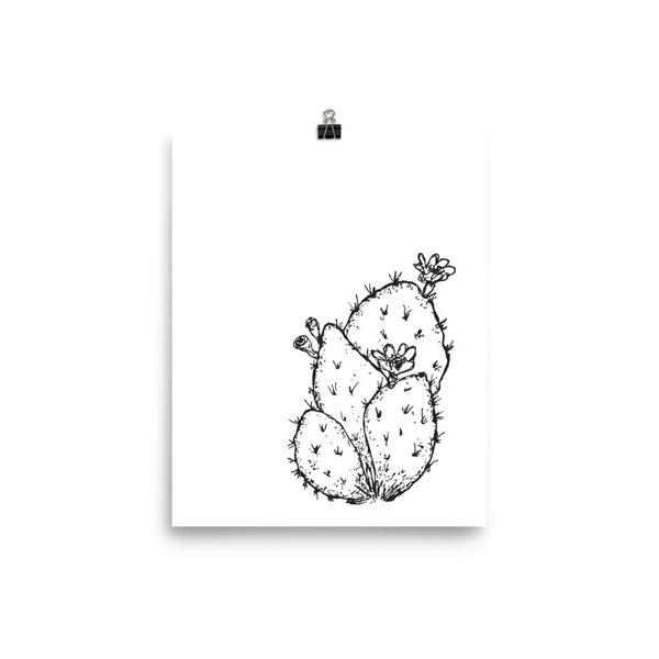 Flowered Cactus Art Print